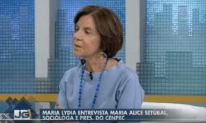 Maria Lydia entrevista Maria Alice Setubal no Jornal da Gazeta