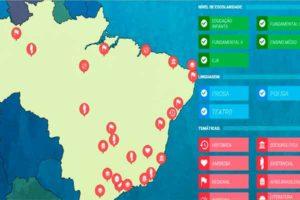 Plataforma mapeia obras literárias pelo Brasil
