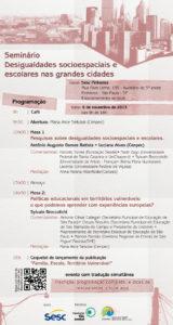 Seminário Desigualdades socioespaciais e escolares