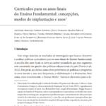 Relatório Final: Currículos para os anos finais do ensino fundamental: concepções, modos de implantação e usos
