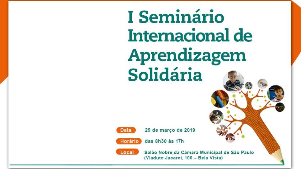 Seminário Internacional de Aprendizagem Solidária acontece dia 29/3