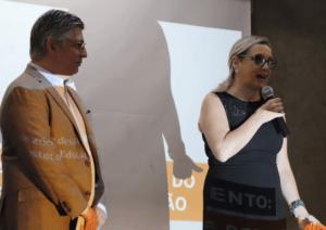 Mônica Gardelli Franco, diretora-executiva do CENPEC (à dir.); e Luciano Monteiro,diretor de Relações Institucionais da Fundação Santillana, abriram o debate.