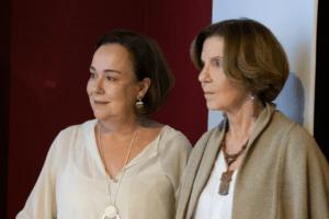 Anna Helena Altenfelder e a fundadora e hoje membro do Conselho de Administração, Maria Alice Setubal. Foto: Marco Antonio Vieira.