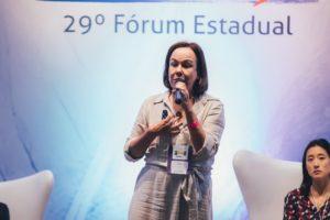 Anna Helena Altenfelder no 29º Fórum da Undime São Paulo. Foto: Duh Mendes/Reprodução.