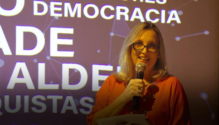 A diretora-executiva, Mônica Gardelli Franco, destacou os valores éticos e posicionamentos públicos do CENPEC.