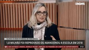 Mônica Gardelli Franco fala sobre evasão e distorção idade-série na Globo News.