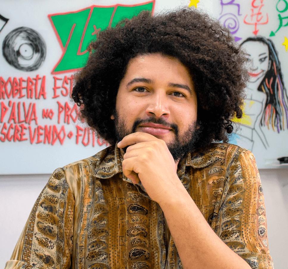 Esdras Soares, um dos editores da Revista Crioula