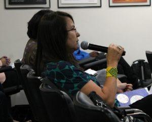 A palestra contou com perguntas da plateia, ao final. Foto: João Marinho.