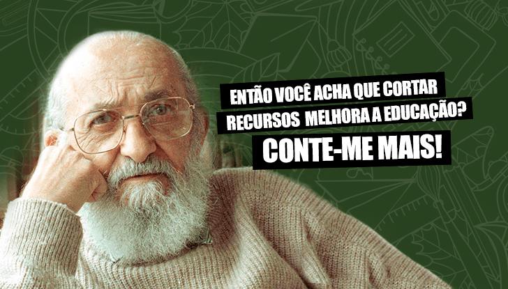 Meme de Paulo Freire.
