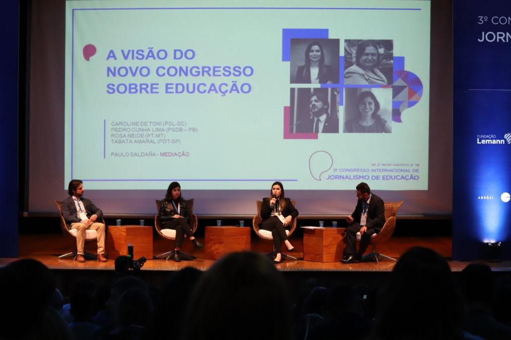 Pedro Cunha Lima, Tabata Amaral, Caroline de Toni e Paulo Saldaña.