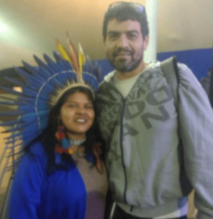 Sônia Guajajara e Fabio Cardias no Cipial