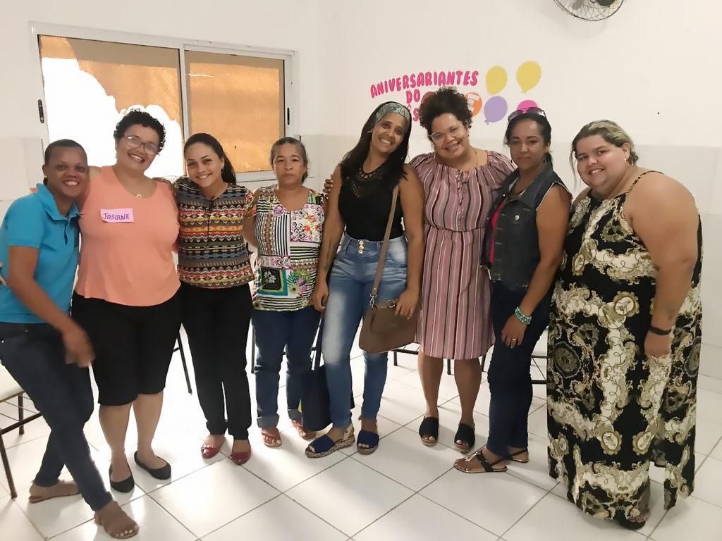 Emanuelle Silva e educadores em comunidades quilombolas na Bahia, no contexto da PVE Itinerante. Foto: Reprodução.