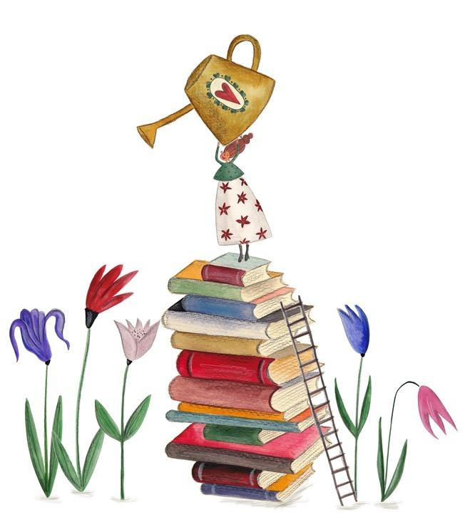 Ilustração: livros