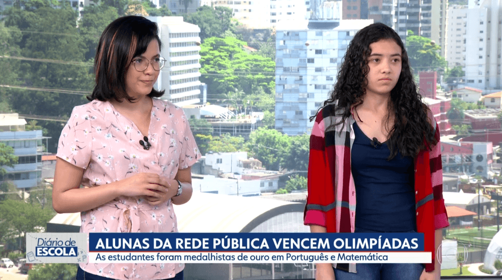 Paula Floriano de Aguiar no SP1, da Rede Globo