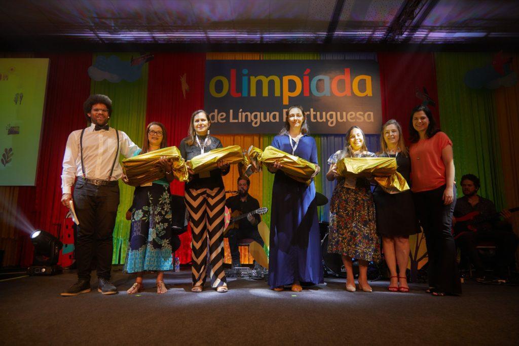 Olimpíada de Língua Portuguesa. Premiação prata, da categoria Crônica. Foto: Camilla Kinker/Itaú Social.