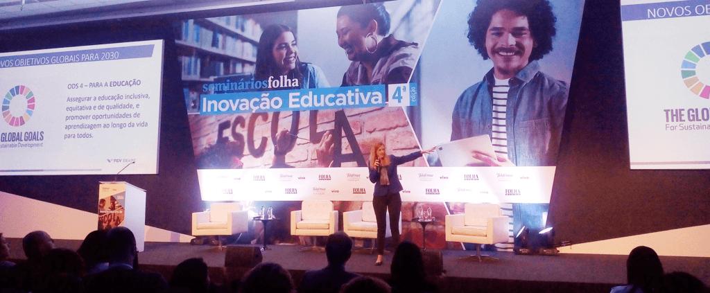 Cláudia Costin no Fórum Inovação Educativa.