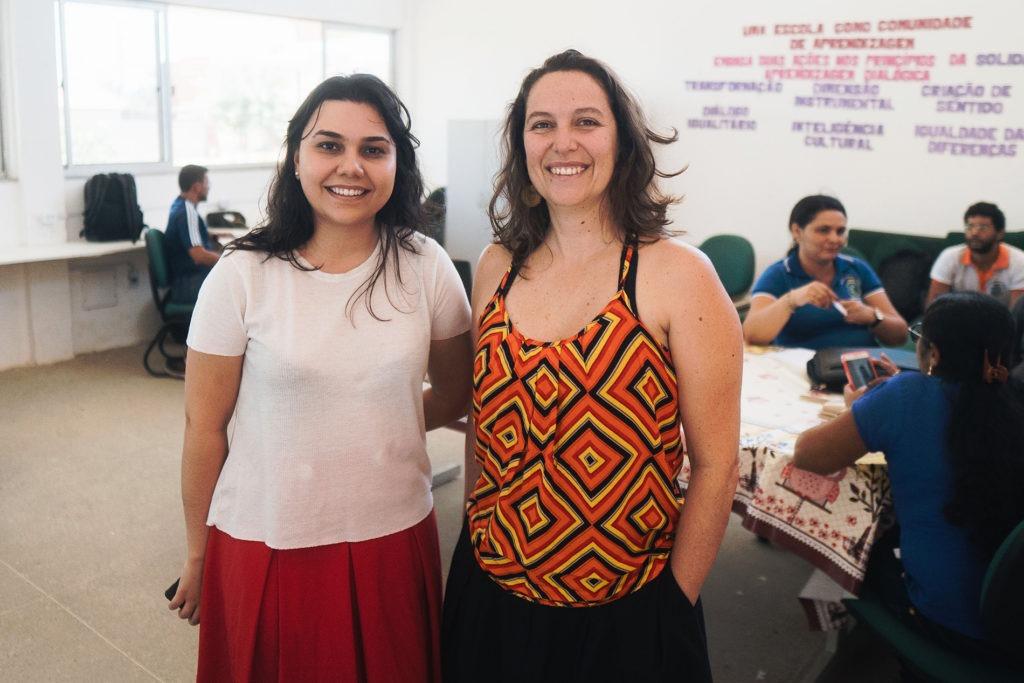 Caroline Marques (à esq.) e Rubia Camaratiba. Foto: Reprodução.