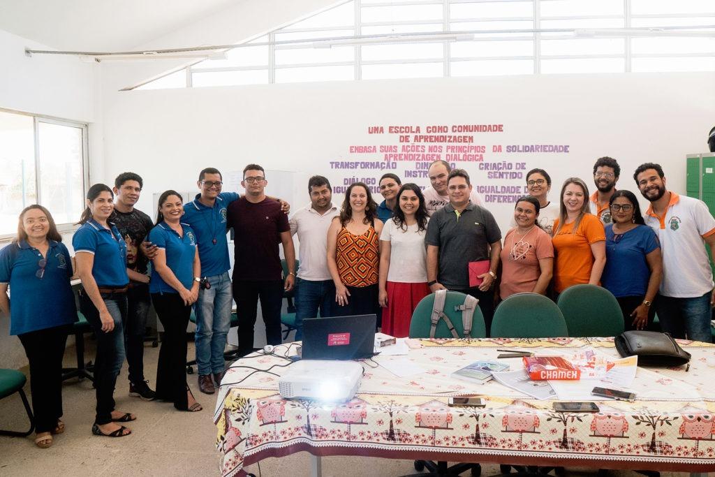 Roda de conversa com professores das escolas de Cascavel (CE). Foto: Reprodução.