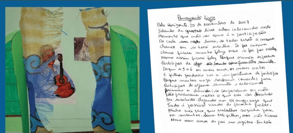 A voz das famílias. Imagem e texto produzido no projeto