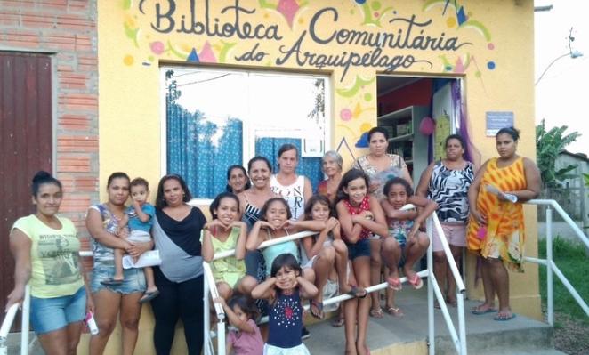 Biblioteca Comunitária do CIRANDAR, em Ilha Grande (RJ)