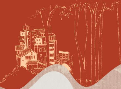 Ilustração caderno Pontos de Vista