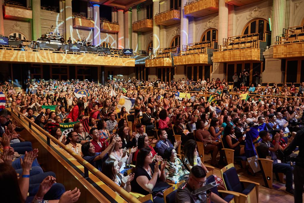 Cerca de 1 mil pessoas compareceram à Sala São Paulo, na capital paulista, para a cerimônia de premiação da Olimpíada de Língua Portuguesa