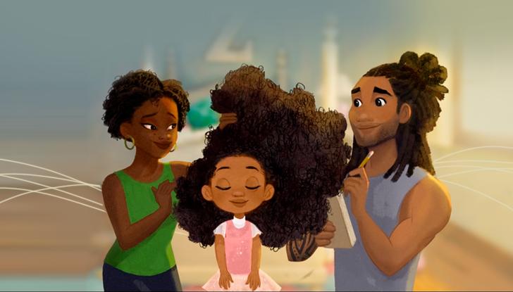 Hair Love, imagem da animação.
