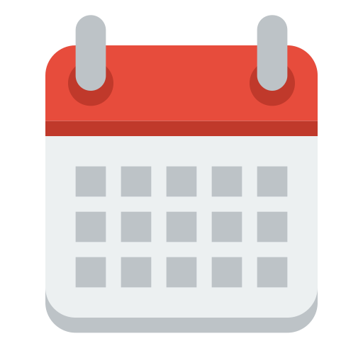 Ícone de calendário.
