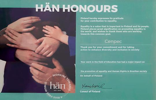 Hän Honours, entregue ao CENPEC Educação