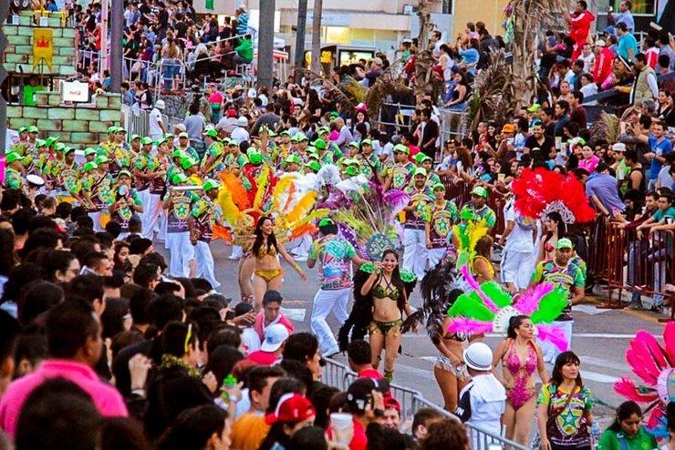 Carnaval de rua no México, cidade de Veracruz.