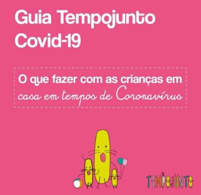Capa cor-de-rosa do Guia Tempojunto Covid-19.