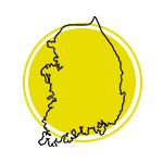 Mapa da Coreia do Sul.