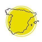 Mapa da Espanha.