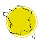 Mapa da França.