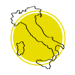 Mapa da Itália.