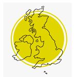 Mapa do Reino Unido.