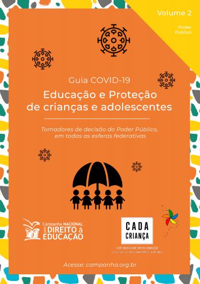 Capa do volume 2 do Guia Covid-19, da Campanha Nacional pelo Direito à Educação.