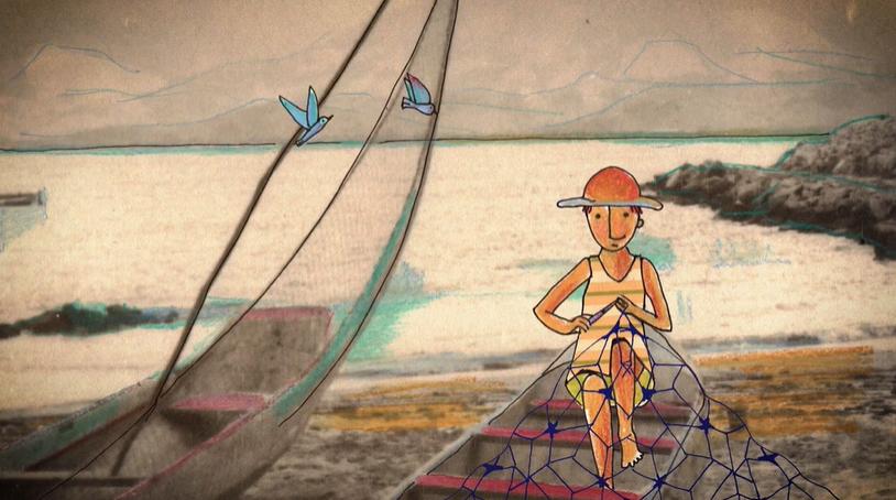 Ilustração de Isabel Galvanese para a animação Ibama. Projeto Treboada. Reprodução