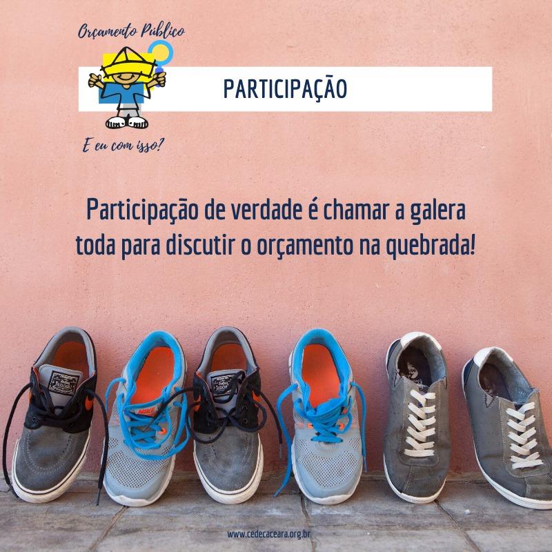 Imagem de divulgação da participação de jovens no orçamento público.