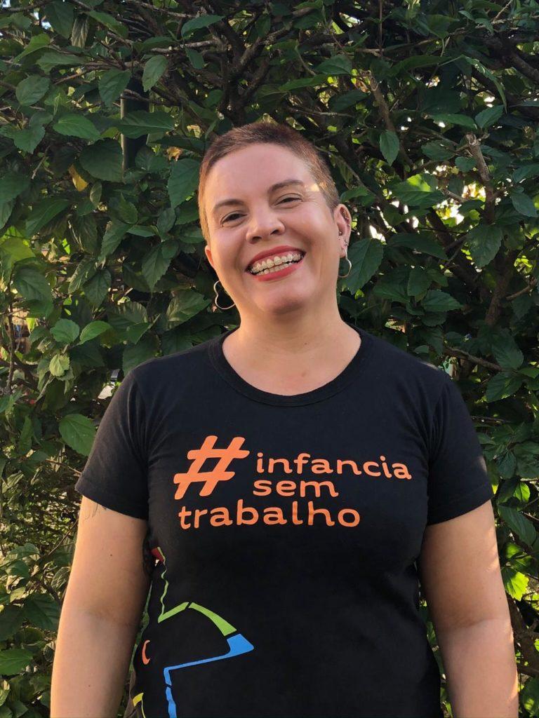 Fotografia de Tânia Dornellas, assessora do Fórum Nacional de Prevenção e Erradicação do Trabalho Infantil (FNPETI).