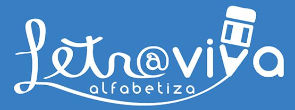 Logomarca do projeto Letra Viva Alfabetiza.
