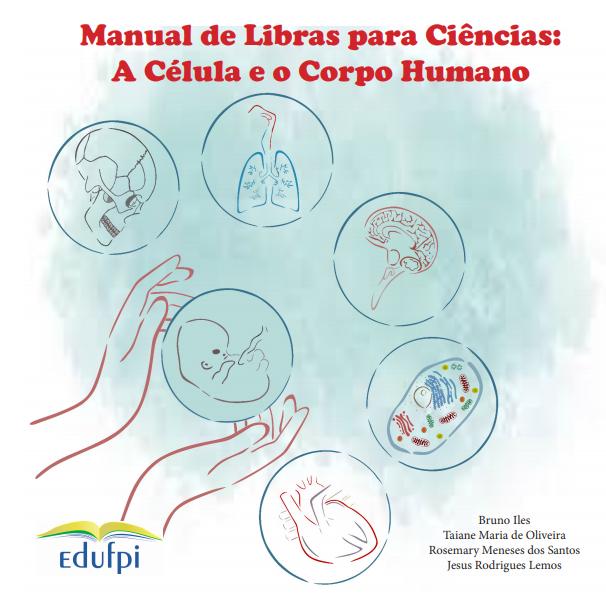 Capa do e-book Manual de Libras para Ciência - A célula e o corpo humano.