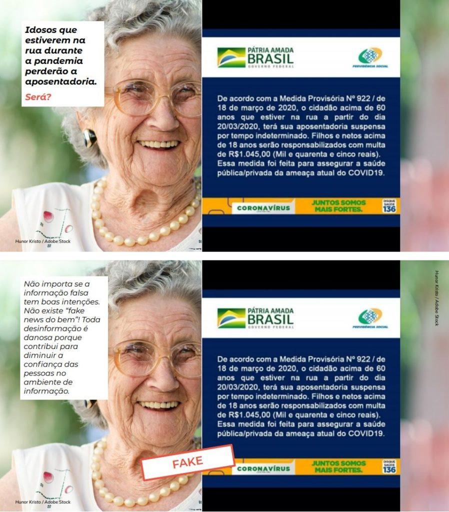 """Slides da apresentação do plano de aula """"Muito além das fake news"""", criado pelo EducaMídia."""