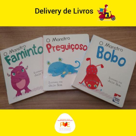 Imagem de livros do projeto Delivery de livros, da biblioteca Biblioteca Municipal Professora Maria de Lourdes de Jesus Lira, em Curral Novo do Piauí (PI).