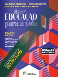 Capa do livro didático Educação para a vida, organizado pelo CENPEC Educação e destinado ao Ensino Médio.