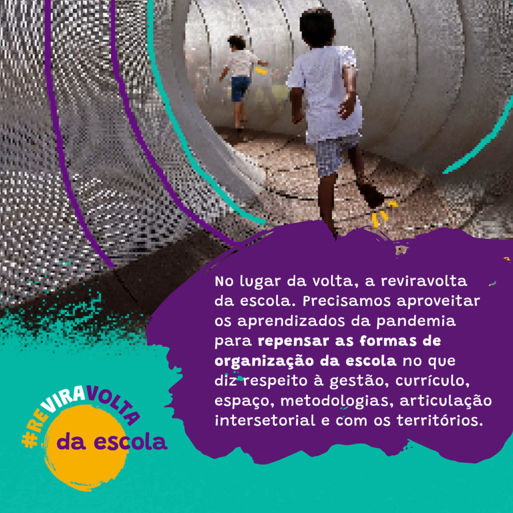 Imagem da campanha Reviravolta da Escola.