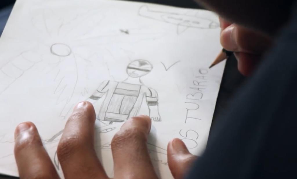 Imagem de uma cena do documentário Meninos de palavra (CENPEC/Fundação CASA, 2017).
