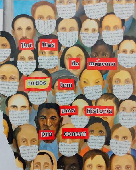 Arte feita por Anny Souza. Para ver mais acesse no Instagram: @psi.colagem #museudoisolamento
