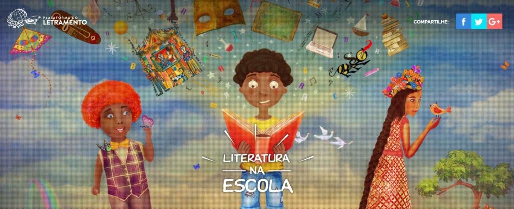 Capa do Especial Literatura na Escola, publicado originalmente em 2017 na Plataforma do Letramento.