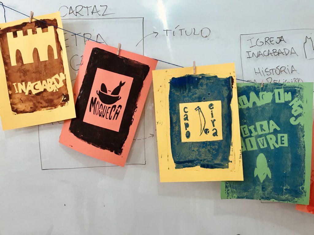 Produções dos(das) estudantes sobre patrimônio cultural.